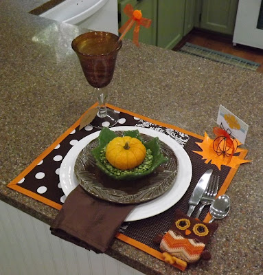 Fall table setting idea