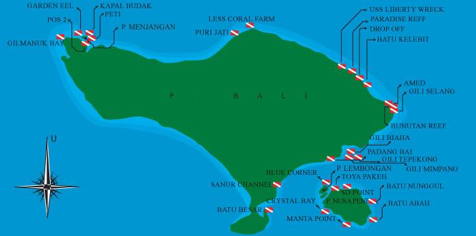 Belajar Scuba Diving Surabaya Peta Dive Spot Bali Gambar