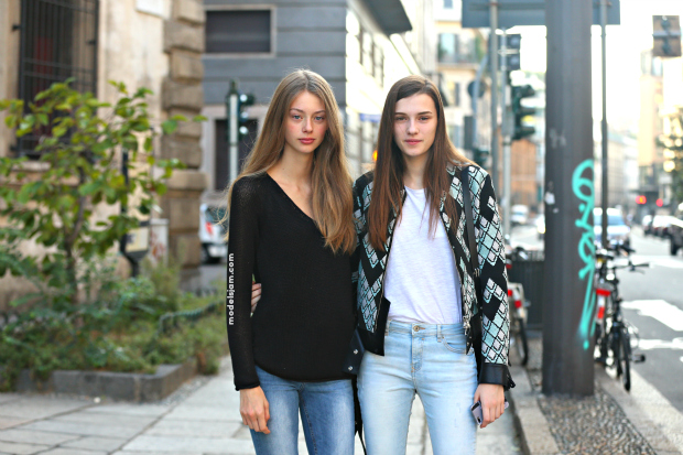 Lauren De Graaf and Irina Djuranovic, Milan, September 2015