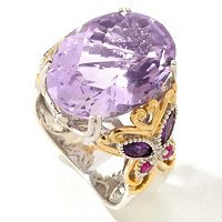 Butterfly Accent Ring of 8.86ctw of Pink and Amethyst Ring