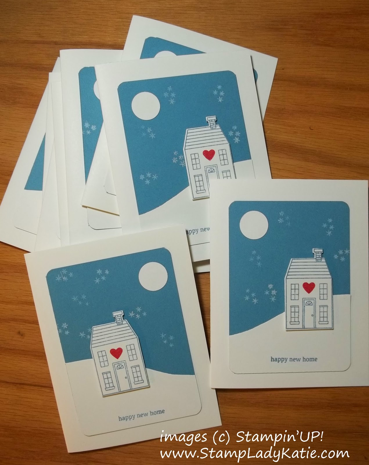 Cards made with the Holiday Home Stamps and Framelits.