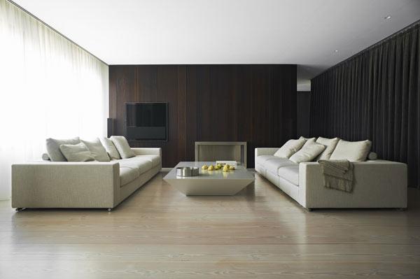 Bem arranjado apartamento minimalista com planta livre for Casa minimalista interior negro