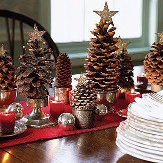 Decoração de Natal com pinhas simples - como fazer