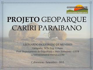 projeto geoparque Cariri paraibano