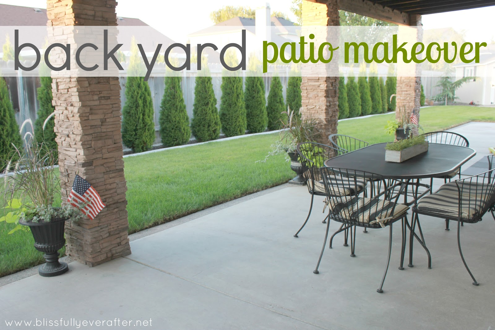 Back Yard Patio Makeover