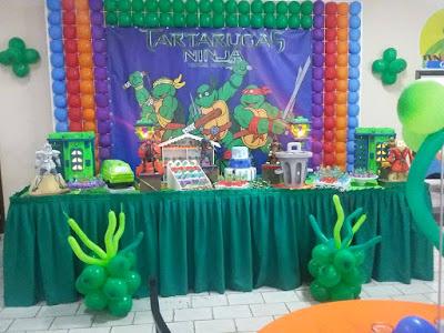 buffet-infantil-bauru-dinos-park-decoração-tartarugas-ninjas