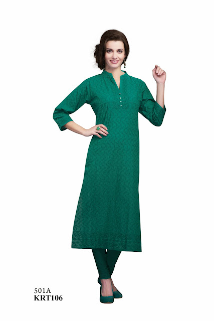 Buy Online Cambric Cotton Simple Long Kurti