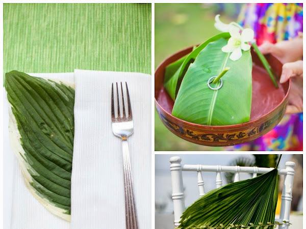 Inspiración para una boda tropical