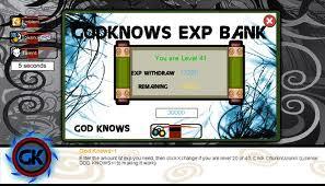 Cheat ATM Exp Ninja Saga [Terbaru]