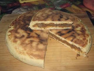 Recette des galettes tunisiennes farcies ou khobz mahchi aux légumes du soleil