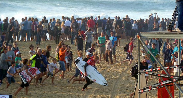 Quiksilver Pro France desde la arena