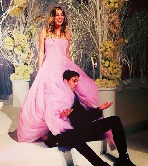 Vestido de novia de Kaley Cuoco