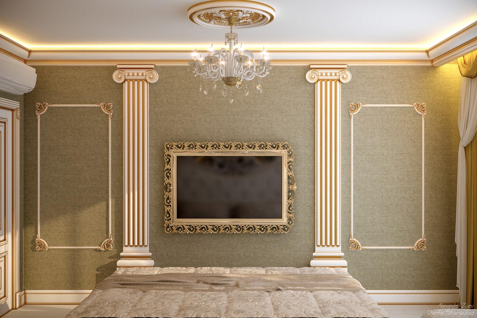 Дизайн багетов на стене