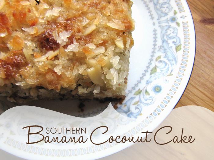 Imprintalish: Southern Banana Coconut Cake