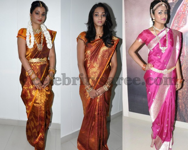 Beautiful Girls in Bridal Sarees