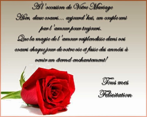 Carte voeux mariage