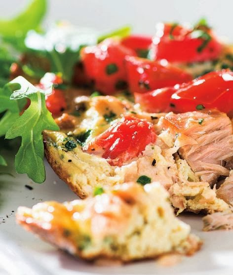 Frittata with tuna and tomatoes