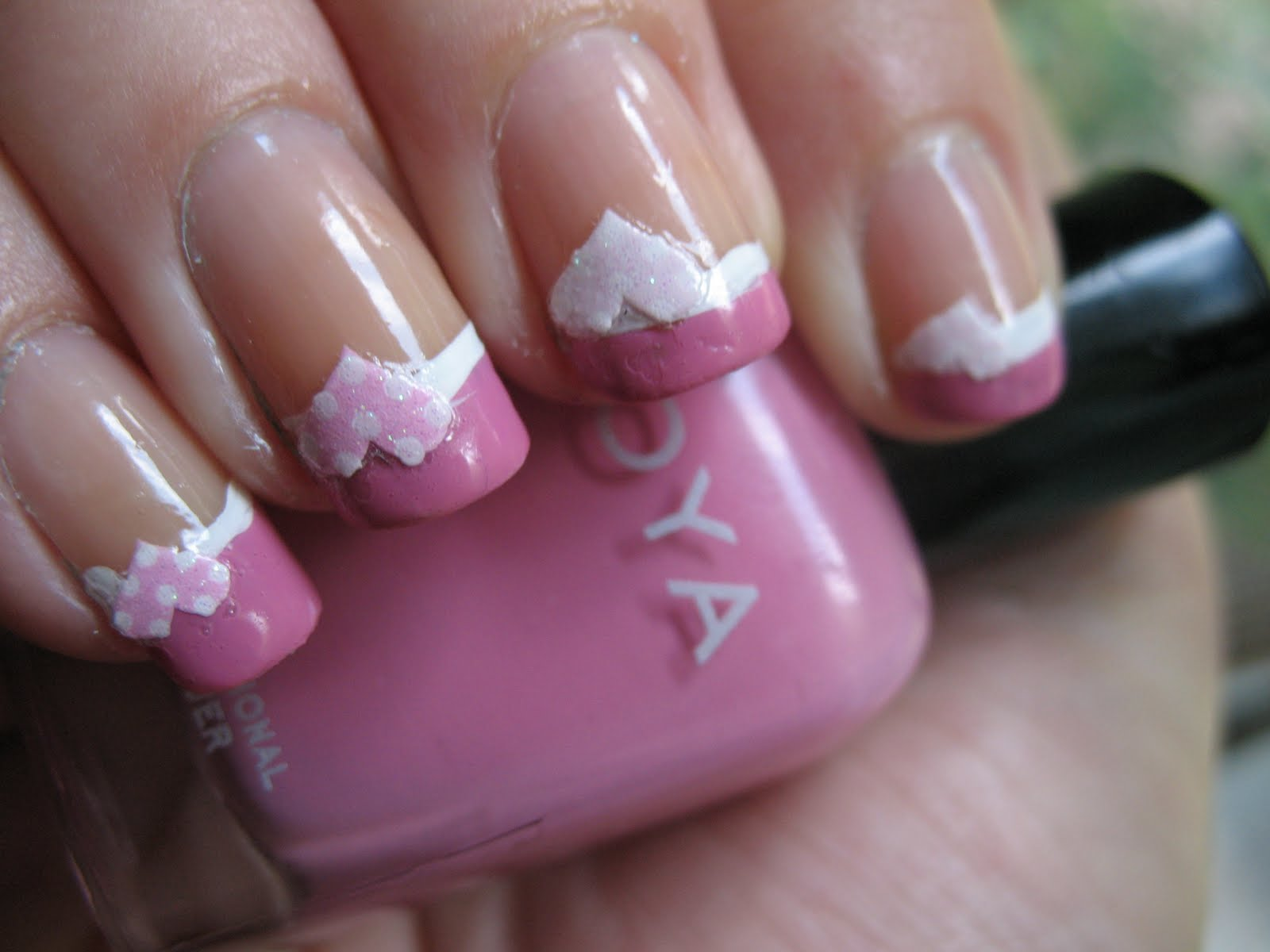Dorable Pink French Tip Nail Designs Adornment - Nail Art Ideas ...