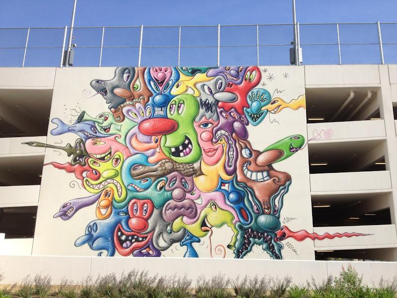 Kenny Scharf wall mural
