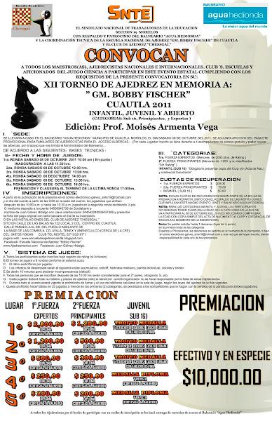 XII TORNEO DE AJEDREZ CUAUTLA 2011