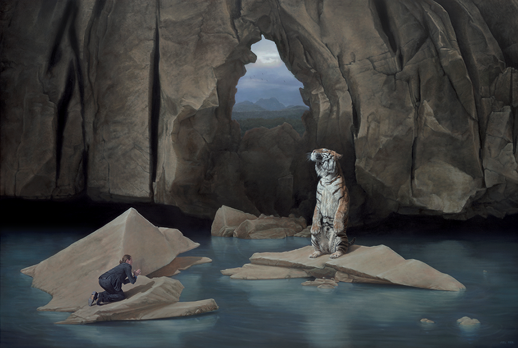 14-The-Other-Side-Joel-Rea-Paintings-of-People-and-Animals-in-Nature-www-designstack-co