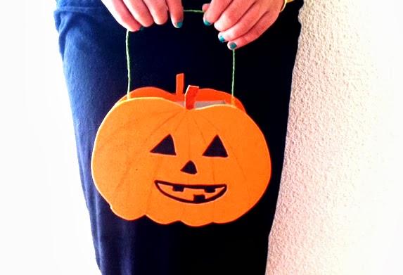Manualidades cesta de calabaza para halloween - Calabazas de halloween manualidades ...