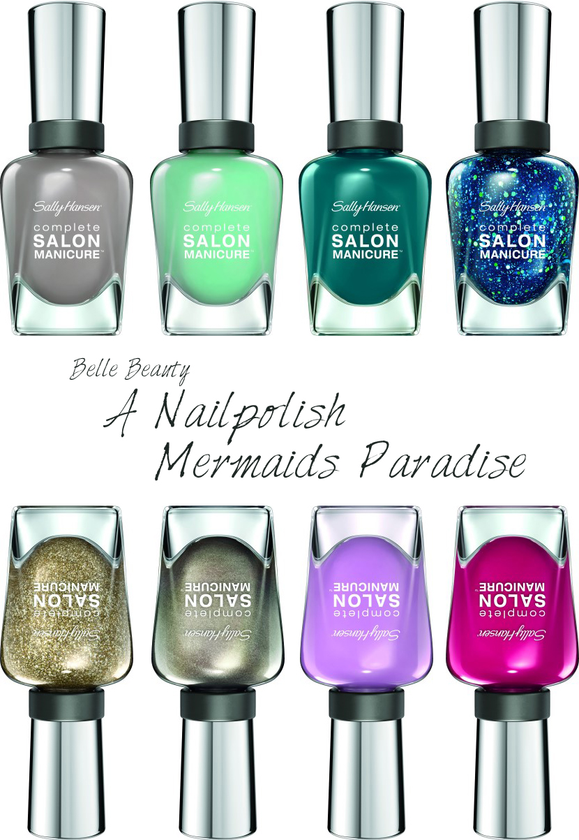 Belle Beauty | A Nailpolish Mermaids Paradise by La Vie Fleurit !!! Beauty, Nailpolish, Colours, Brand, Collection, Make-Up, Spring/Summer, Spring, Summer, Trends, Sally Hansen, Coty, Nagellak, Glitter, Manicure, Pedicure, Nails, Nagels, Makeup, Make Up, Must Have, BBlogger, Blog, Blogger, Fleur Feijen