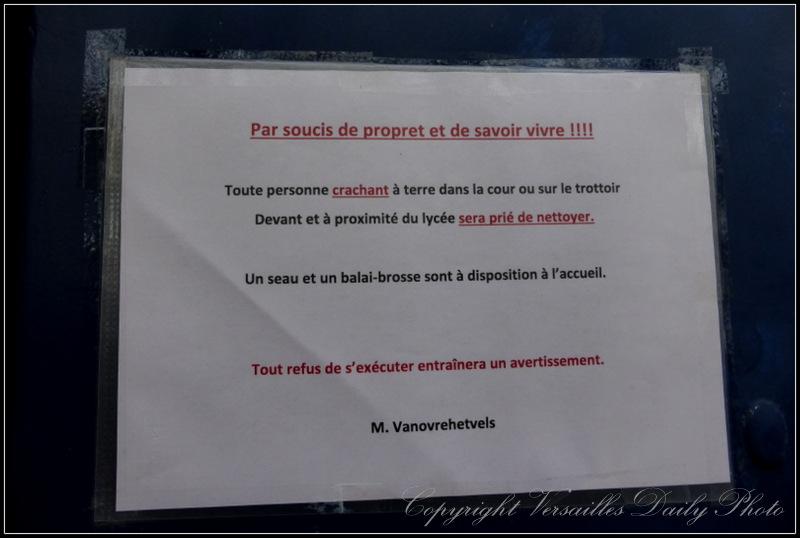 Fautes d'orthographe Lycée St Vincent de Paul Versailles