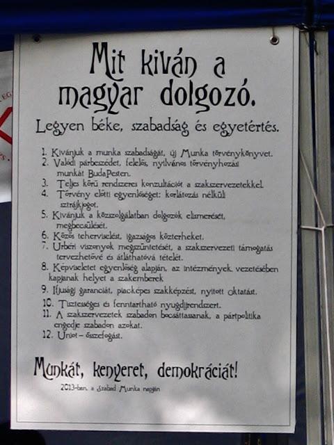 Mit kiván a magyar dolgozó