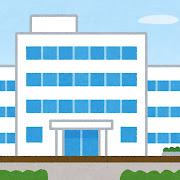 病院の建物のイラスト(背景素材)