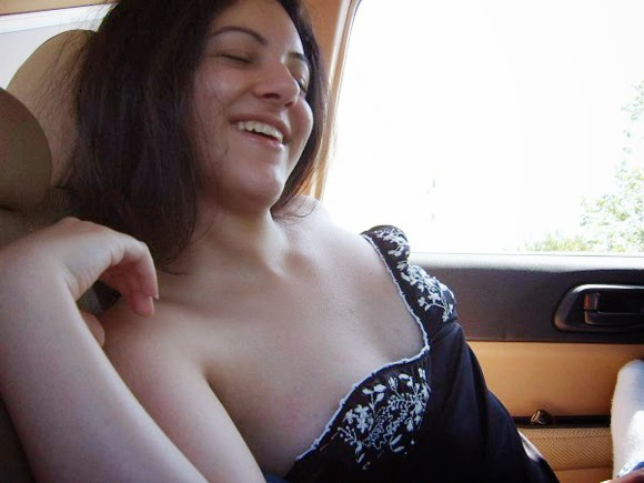 Topless Girl Nude Boobs In Car