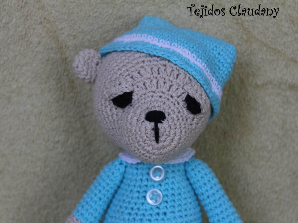 Excelente Crochet Patrón Carenado Oso Composición - Manta de Tejer ...