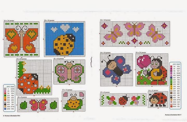 Hobby lavori femminili ricamo uncinetto maglia for Schemi punto croce bavaglini bimba
