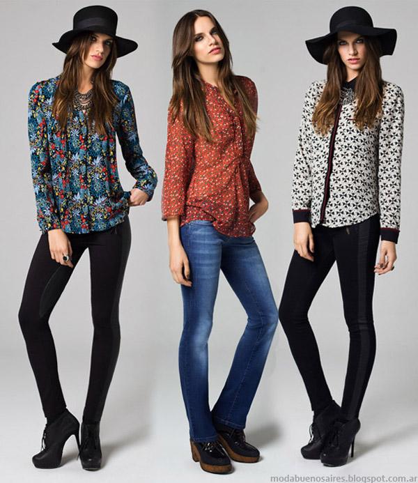 Blusas y camisas de moda otoño invierno 2014 Mab.