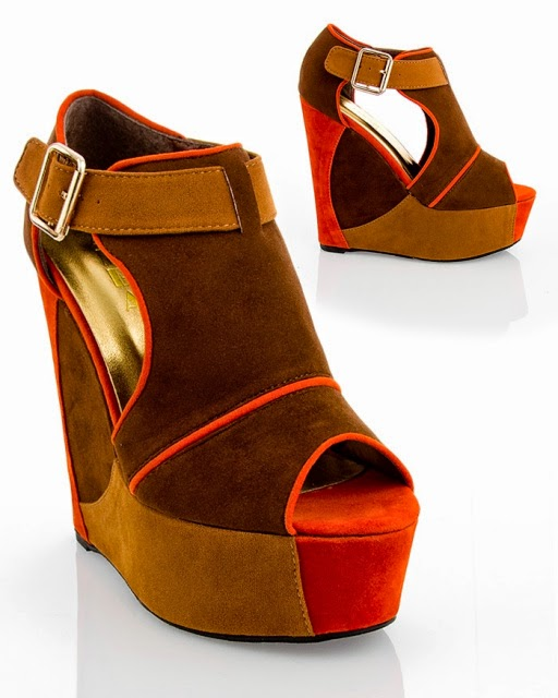 Colorblock Wedge Sandals
