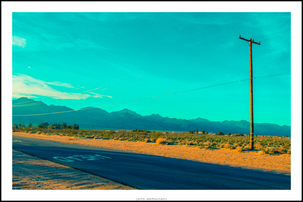 Inyokern California, a view of desert and mountains. light pole, Turquoise, California, Desert, Landscape, Nature, sky,Roads, Nature, Mountains, Sunrise and Sunset, Sand