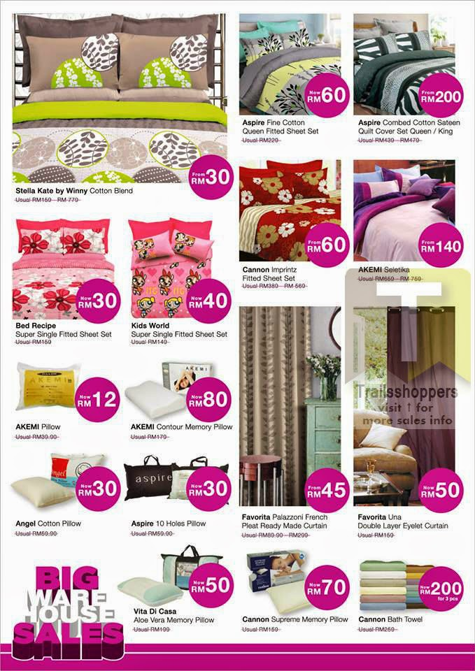 AEON Home Furnishing Big Warehouse Sales END 13 APR 2014 Bedsheet Pillow