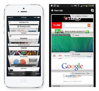 Bukti iOs 7 dan Android Mirip