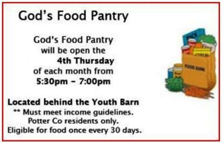 5-25 God's Food Pantry