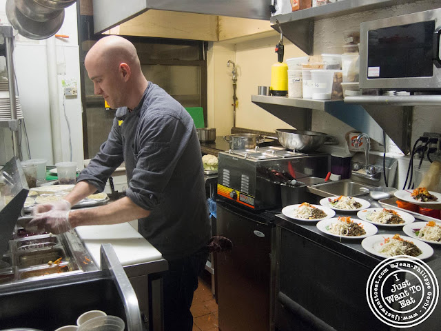 Image of Chef Ken Larsen in his kitchen of Table Verte in the East Village, NYC, New York