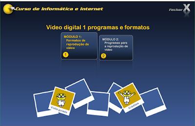 CURSO DE INFORMÁTICA E INTERNET - VÍDEO DIGITAL 1 PROGRAMAS E FORMATOS