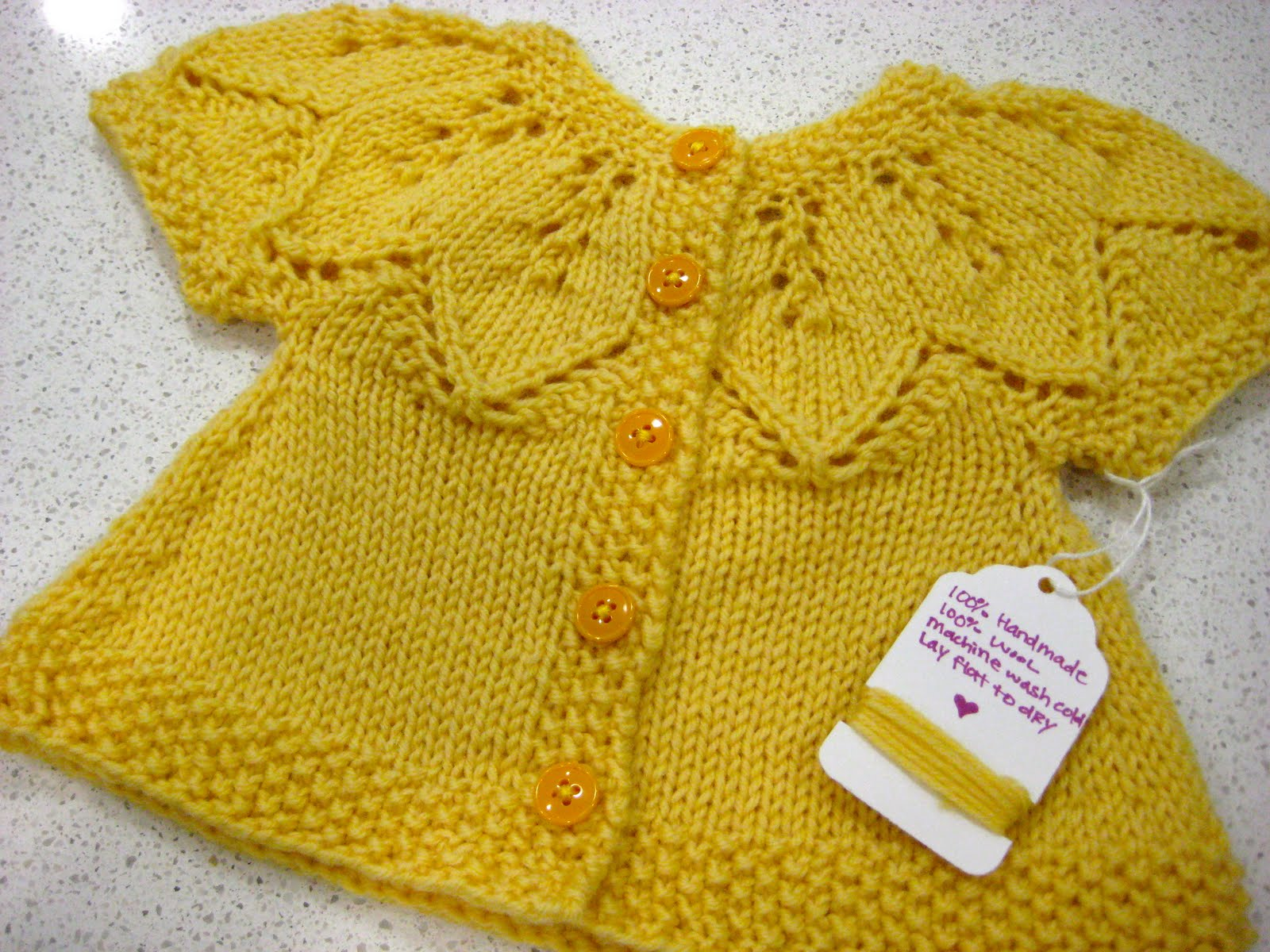 Baby Girl Knitted Sweater Pattern : So Sue: Knitted Baby Girl Sweater
