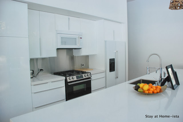 Beautiful all white Ikea kitchen, built in and looks so expensive