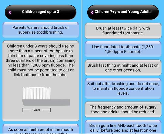Brush DJ App dental care tips