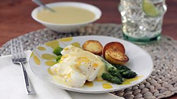 Aiglefin Au Four Avec Sauce Hollandaise A L'Orange