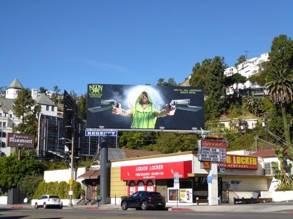 Neon Joe Werewolf Hunter billboard