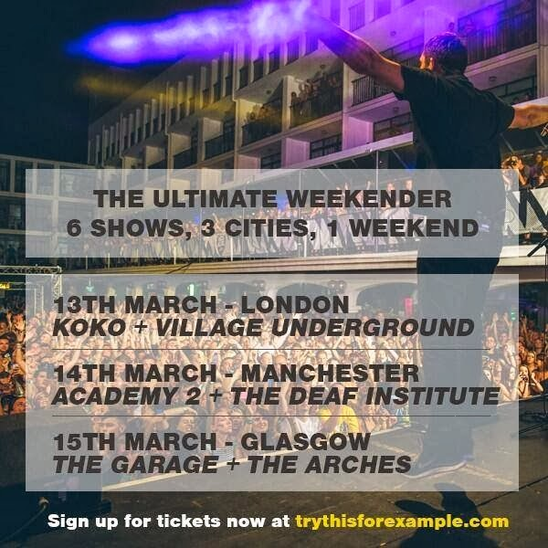 Example announces his Ultimate Weekender UK Tour
