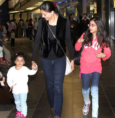 Sushmitha Sen and adopted children Renee and Alisah