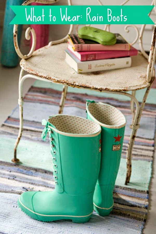 beautiful aqua rain boots colorful