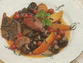 Receta Frutas secas frambeadas